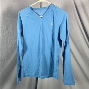 Long Sleeve Under Armour v-neck T-Shirt M